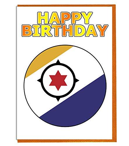 Bonaire Vlag - Verjaardagskaart - Vriend - Familie - Collega - Mate - Boss - Loved One
