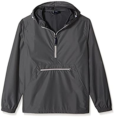 Charles River Apparel unisex adult Pack-n-go & Water-resistant Pullover (Reg/Ext Sizes) Windbreaker Jacket, Gray, 3X-Large US