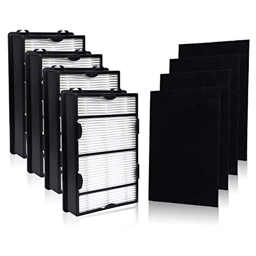 HAPF600D Filter for Holmes True HEPA Filter B Replace HAPF600 HAP615 HAP625 HAP650 HAP675RC HAP725 HAP750 HAP1625 HAP1650 HAP1725 HAP1750 Filters(4 Packs)