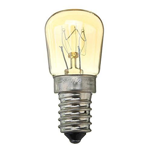 KaKaDz Bombilla LED, 300  E14 25W Microondas Cocina de Horno de microondas Bombilla incandescente AC220-240V Bombillas domésticas