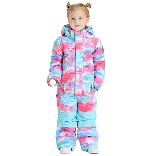 GSOU SNOW - Traje de nieve para niños y niñas, cálido, impermeable, aislado, para esquí de invierno, Azul, 5 Años