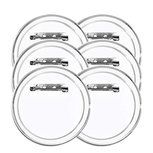 FOGAWA 30 pcs Buttons Selber Machen ohne Buttonmaschine JGA Button Kinder Buttons Anstecker 60mm Ansteckbuttons mit Sicherheitsnadel Button Pins für JGA Foto Bild Kleidung