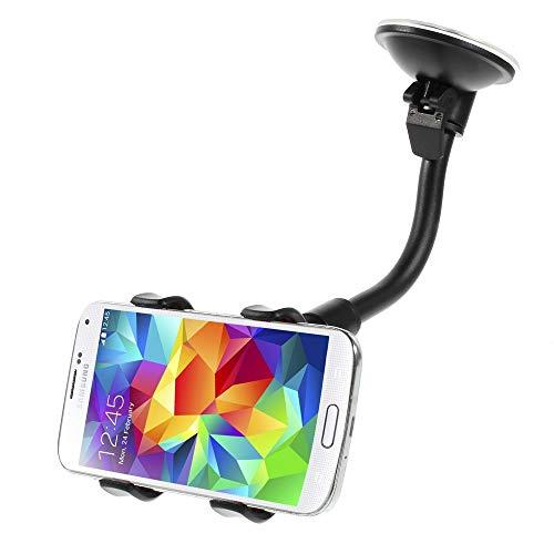 jbTec KFZ Handy-Halter mit Schwanenhals und Saugnapf 23cm Schwarz - PKW Auto-Halterung Smartphone Holder Schwanhals