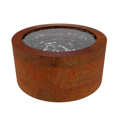 100cm Round Corten Pond - Rotoro Corten Steel Pond - Water Feature - Garden Design