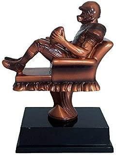 Decade Awards Fantasy Football Armchair Quarterback Trophy - FFL Gridiron Award - 6.5 Inch Tall - Customize Now