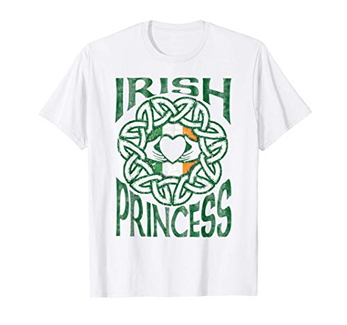 Irish Princess Celtic Knot Claddagh Ring Gift T-Shirt