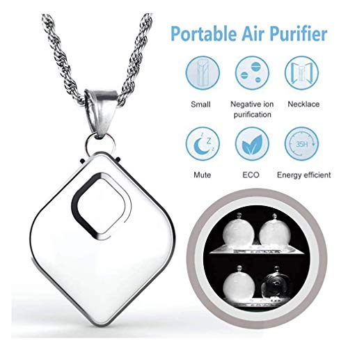 Find Discount WXCC Wearable Air Purifier,Portable Ionizer Smoke Bacteria Remover,Hanging Neck Person...