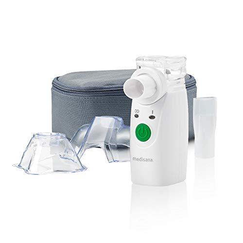 Medisana IN 525 tragbarer Inhalator für Unterwegs, Ultraschall Vernebler mit Mundstück und Maske für Erwachsene und Kinder, bei Erkältungen oder Asthma mit extra Zubehör