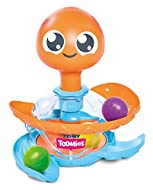 TOMY Toomies Octopus Ball Toy, Spinning Ball Popper Push Toy, Baby Interactive Pop and Play Sorting ...
