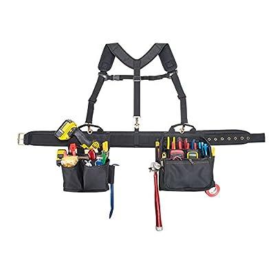 CLC Custom Leathercraft 1608 Electrician's Comfort Lift Combo Tool Belt, 28 Pocket from Custom Leathercraft