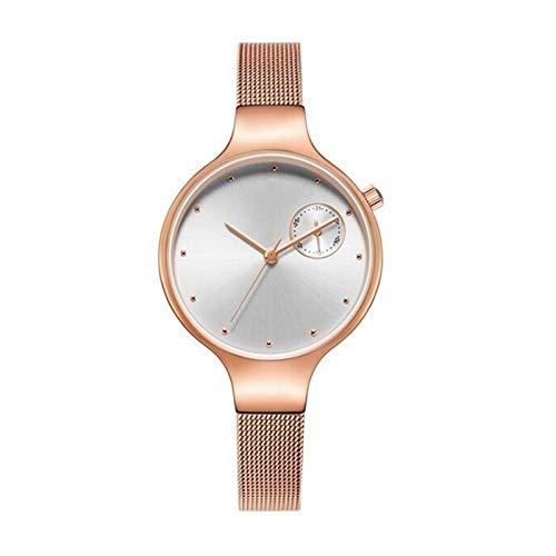 JCCOZ-URG Impermeable Simple Reloj de Cuarzo Reloj de la Manera Mujeres de los Relojes del Reloj de Vestir Mujer señoras de Lujo de la Marca (de Oro Rosa) URG