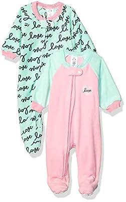 Gerber Baby Girls 2-Pack Blanket Sleeper, Pink Love, 24 Months