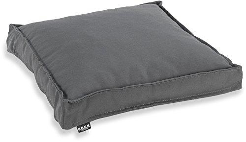 H.O.C.K. Classic Uni Outdoor Sitzkissen Stuhlkissen für drinnen und draußen aus 100% Polyacryl(dralon®) – in verschiedenen Farben (40x40x5cm, grau)