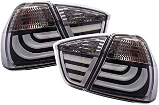 Fit 06-07 BMW E90 3-Series 4Door Sedan Model Only Led Tail Lights Smoked Lens/Chrome Housing