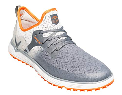 Callaway Herren Apex Lite Lightweight Spikeless Golfschuhe, Grau (Grey/Orange Grey/Orange), 46 EU