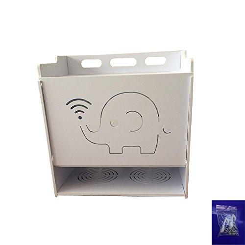 Cajas de Almacenamiento de Cable de alimentación para Montaje en Pared, Estante Flotante, Soporte de Almacenamiento para teléfono para Evitar Golpes eléctricos Large