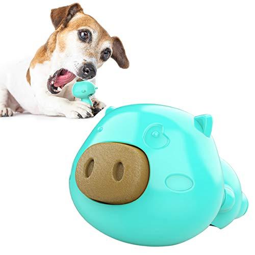 Jhonson Everlasting Treat Pig en forma de bola de perro masticar juguete lamer juguetes alimentador lento forma de cerdo