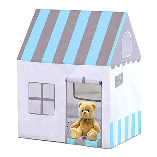 Children Teepee , Children's Tent, Princess Castle, Indoor, Outdoor, Baby Toy House, Infant Play House, Blue, is The Best for Boys and Girls, Birthday Present