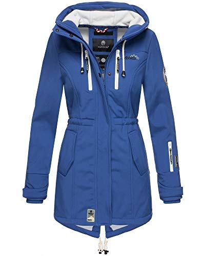 Marikoo Damen Softshell Jacke Winter Jacke Regenjacke Parka Kapuze ZMTZ (L, Royal Blau)