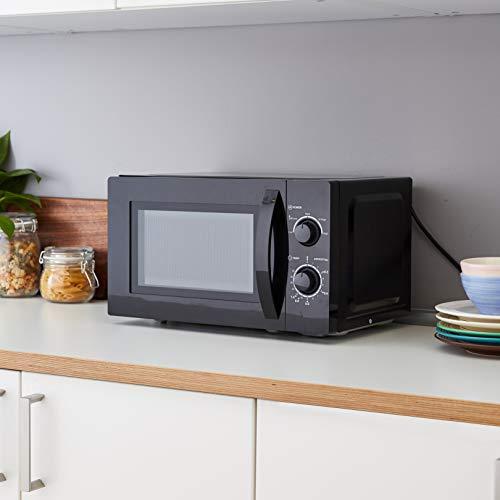 Amazon Basics Solo Countertop Microwave, 20 L, 700W – Black
