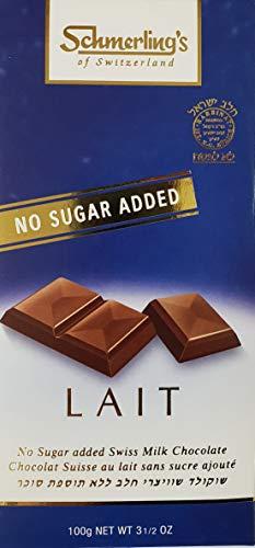 Schmerling - Chocolat lait sans sucre - Lot de 5