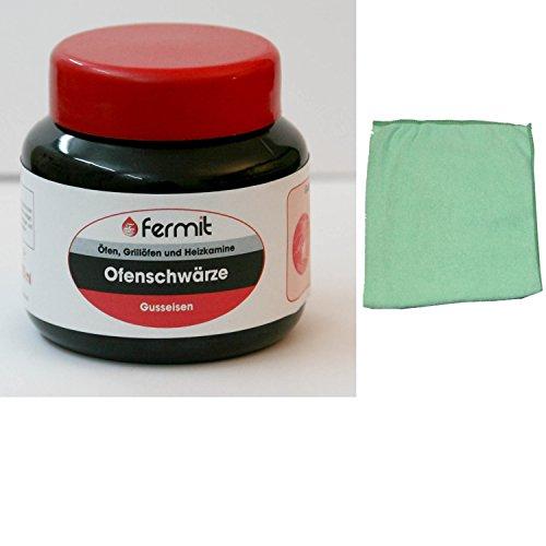 220 ml Kochplatten Elektroplatten Reiniger Ofenschwärze inkl. Microfasertuch zum Auftragen