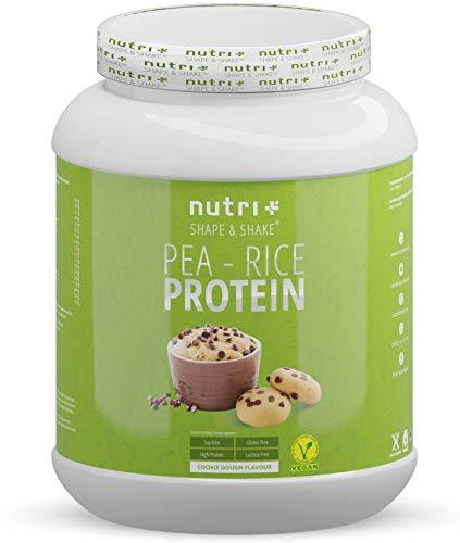 Sojafreies PROTEINPULVER - Pea Rice Cookie Dough 1kg - Veganes Eiweißpulver sojafrei - Protein ohne Soja, Gluten & Lactose - Eiweiß Pulver Vegan - In Deutschland hergestellt
