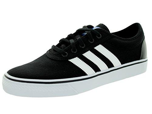 adidas Originals mens Adiease Skate Shoes , Black/White/Black, 10.5 US