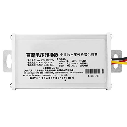 Electric Vehicle Converter Adapter, Fast Response 10A 120W High Inverter Frequency Electric Bicycle Transformer DC 36V-72V to 12V Electronics