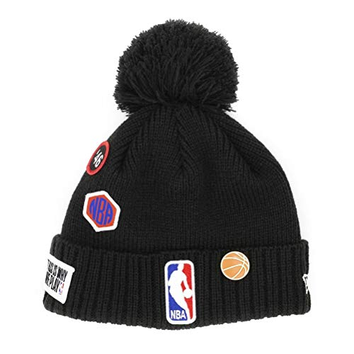 New Era Men's NBA 2018 Draft Cuffed Knit Hat with Pom