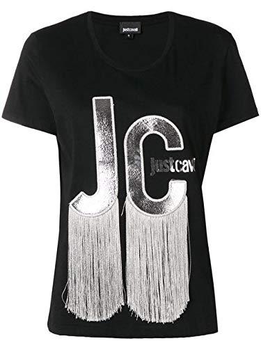 Just Cavalli T-Shirt Frangia AI 189 (IT Donna M, Nero)