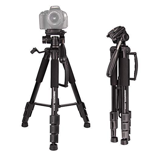 Kompaktes Stativ-JIABAO 140cm Leichtes Stativ mit 3-Wege-Kopf und Tragetasche für Nikon Canon DSLR …