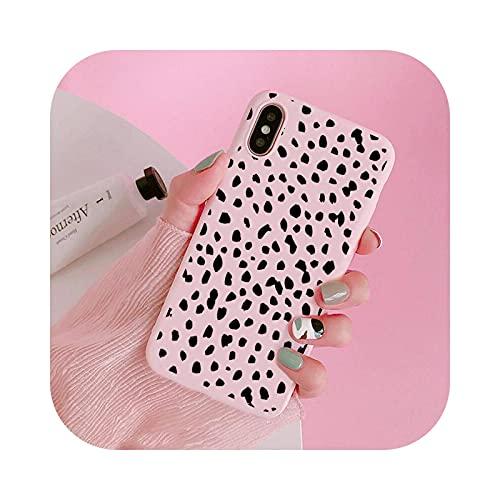 Negro blanco lunares teléfono caso para iphone 12 11 Pro Max Mini XS 8 7 6 6S Plus X SE 2020 XR mate caramelo rosa silicona cubierta - A9-Para iphone12 pro max