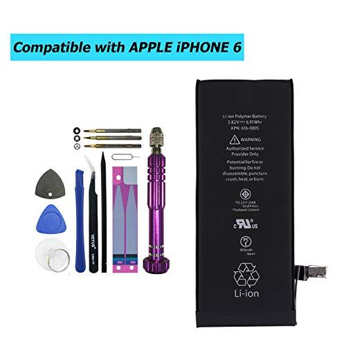 Upplus 616-0805 616-0806 vervangende accu compatibel voor iPhone 6, A1549,A1586,A1589,616-0804,616-0809 met toolkit