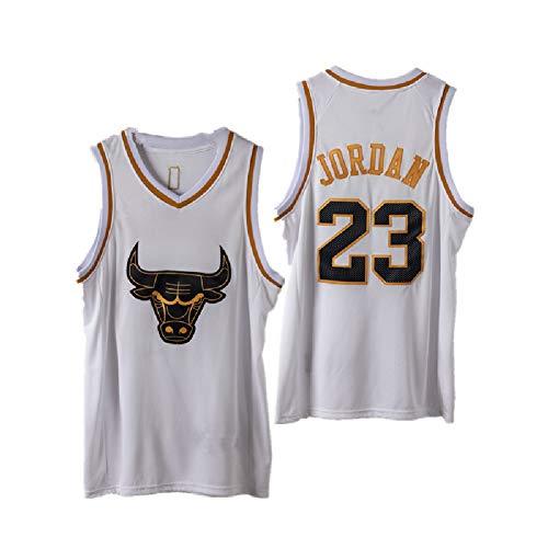 HGYB Sudadera para fanáticos Bulls # 23 JOR, Chaleco de Juego de Baloncesto, cómodo Cuello en V, Tejido Transpirable de Secado rápido, Limpieza repetible (S-2XL)-XL