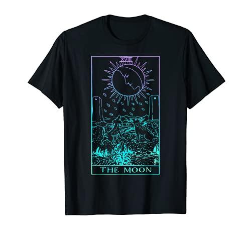 The Moon Tarot Card Rider Waite Witchy T-Shirt
