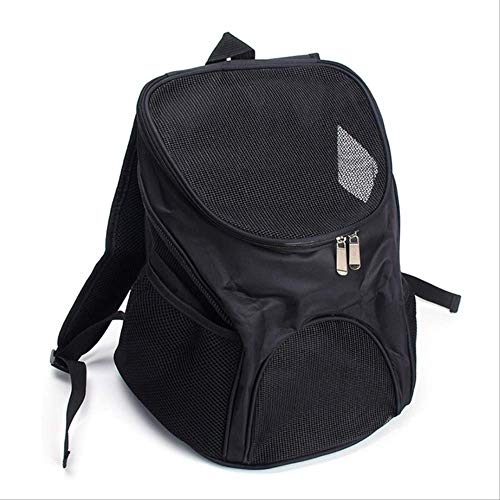 SHDS Pet Dog Carriers Backpack Bags Pet Cat Outdoor Travel Carrier Packbag Portable Zipper Mesh Backpack Breathable Dog Bags Supplies 30x31x33 Black