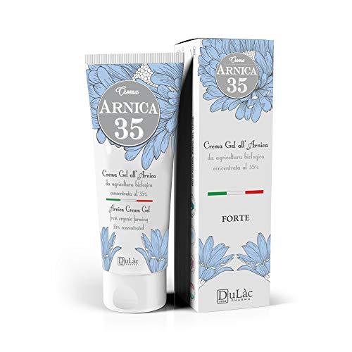Dulàc - Crema Gel all'Arnica FORTE - 75 ml - LA PIÙ CONCENTRATA - con Arnica Montana da Agricoltura Biologica - 100% Made in Italy - Arnica 35