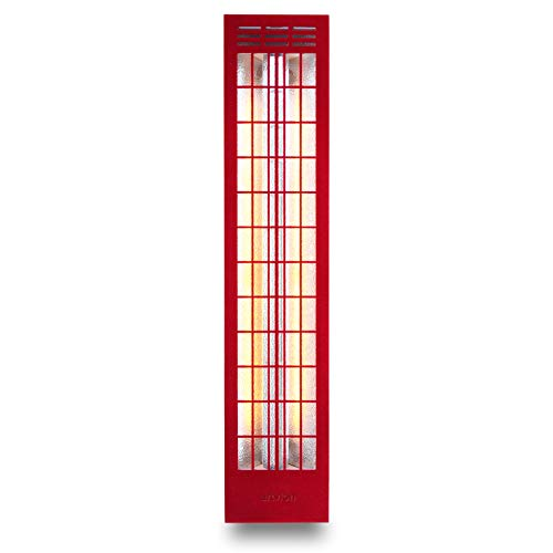 ARTVION Infrarotstrahler Thermostoff Corner Red Large, für Ecke-Aufbau trockene Sauna oder IR-Kabine (750 Watt)