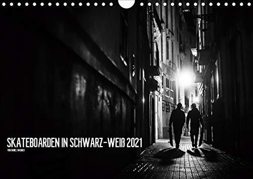 Skateboarden in Schwarz-Weiß (Wandkalender 2021 DIN A4 quer)