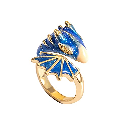 Personalidad Tendencia Esmalte Esmalte Color Esmalte Anillo de boca de dragón Hombres y mujeres (Azul)