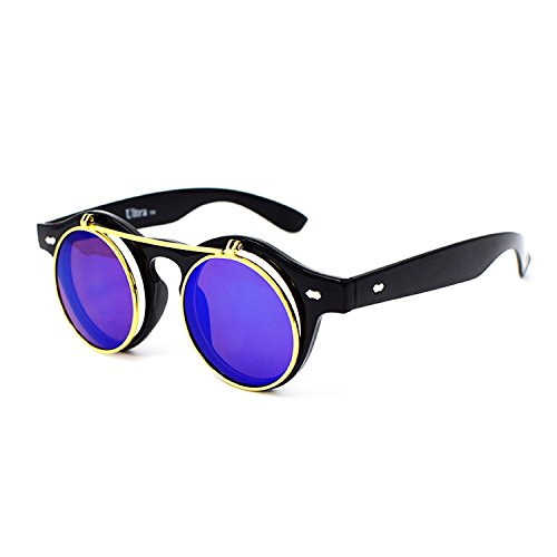 Great festival accessories these retro sunglasses are great sun glassess men and women will love The perfect punk accessories they have been used as rave glasses and stand out fashion glasses With over 14 colours these steampunk glasses are round sun...