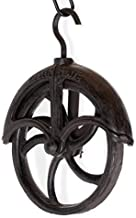 Rustic State Makara Cast Iron Vintage Industrial Wheel Farmhouse Pulley 7 Inch Diameter for Custom Make Wall Pendant Lamps