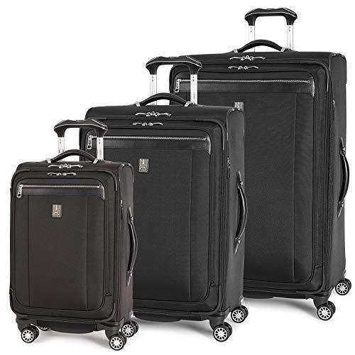 Travelpro Platinum Magna 2-Softside Expandable Spinner Wheel Luggage, Black
