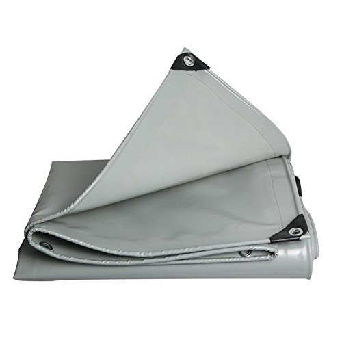 WZNING Lona gruesa impermeable protectora solar para camión de vapor, tela para lluvia, crepé, para exteriores, resistente y protectora (color: gris, tamaño: 4 x 4 m)