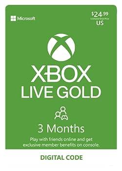 Xbox Live Gold  3 Month Membership [Digital Code]