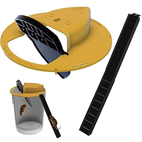 Flip N Slide Bucket Lid Mouse Rat Trap Multi Catch,...