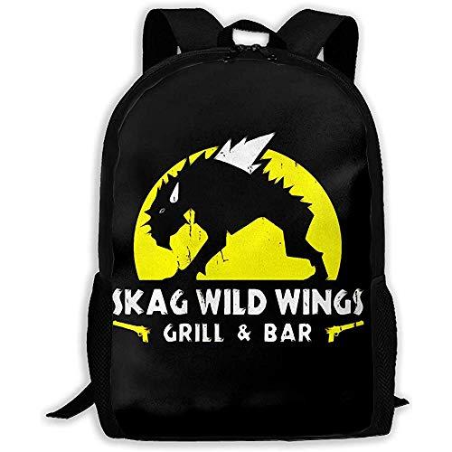 Kimi-Shop Unisex Adult Rucksack Skag-Wild-Wings Bookbag Reisetasche Schultaschen Laptoptasche für Männer und Frauen