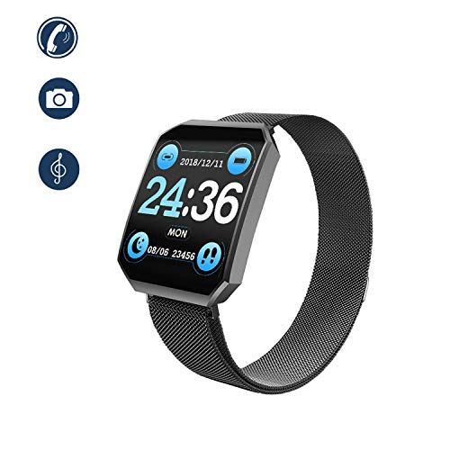 RAGZAN Smart Watch, mode-polshorloge vol touchscreen-tracker sporthorloge met stappenteller, hartslagfrequentie, bloedzuurstofmonitor, stopwatch, dames en heren, smart watch iOS Android mobiele telefoon