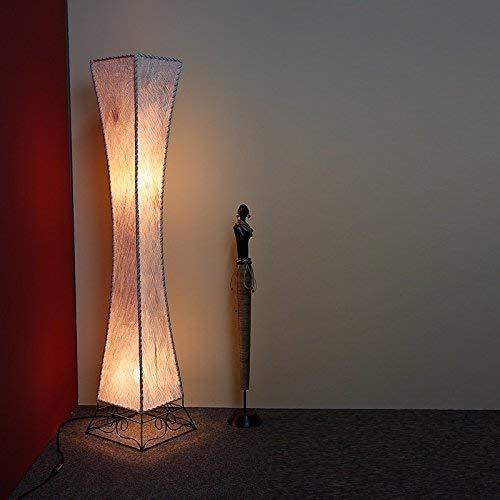 Lampadaire avec Tresse en Palmenrinde, avec Ampoules